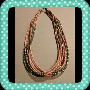 Jewelry - ✨ Final Drop✨ Gold and Coral Beaded Necklace